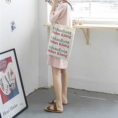 Toile Fashion Sauvage Toile À Travail Sac Sac À Double Journaux Sac Grande Scolaire Imprimer Lettre Simple Ynnb Pour Le Littéraire Capacité Face Dos Voyage Ladies Sac Et Bandoulière wEqxYRWfI