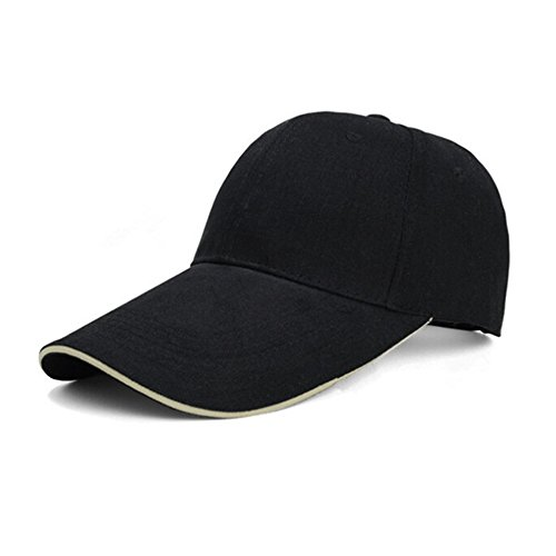 FuzzyGreen UV Sun Visor, 2017 New Protect Outdoor Cotton Long 4.33inch Bill Baseball Cap - Black Bill Adjustable Baseball Hat