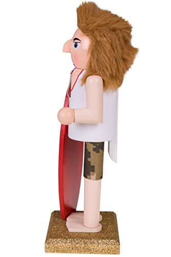 Clever Creations Christmas Surfer Nutcracker | Red Surf Board | Festive Beach Surf Christmas Decor | Perfect for Any Collection | Perfect for Shelves and Tables | 100% Wood | 10'' Tall… by Clever Creations (Image #1)