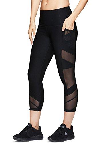 RBX Active Women's Workout Gym Yoga Athletic Leggings Black Multi Combo M ()