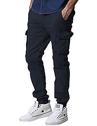 Match Men's Regular Fit Chino Jogger Cargo Pant (38W x 33L, 6539 Blue)