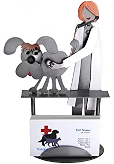 Amazon dog shaped business card and pen holder office products h k sculptures 6764bc female veterinarian examining dog business card holder colourmoves