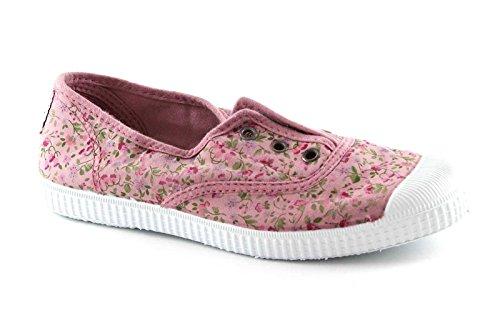 Cienta Rosa Elastische Schuhe Stoff Mädchen 34