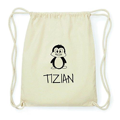 JOllipets TIZIAN Hipster Turnbeutel Tasche Rucksack aus Baumwolle Design: Pinguin 0x1ee3aNGZ
