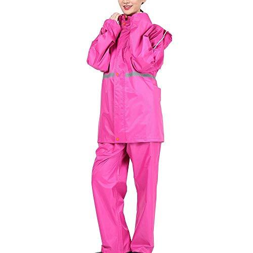 Piezas Abrigos Poncho Chubasquero Color Battercake Impermeable Raincoat Elegantes Anchas Talla Grande Casuales Pantalon Adulto Sólido Mujeres Encapuchado Respirable Dos Moda D Lluvia Outdoor ORxTWRn