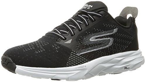 Skechers Performance Women's Go Run Ride 6 Running Shoe, Black/White, 7.5 M US