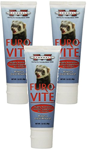 Vitamin Paste ((3 Pack) Marshall Furo-Vite Vitamin Supplement Paste for Ferrets, 3.5-Ounce each)