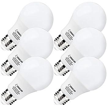 LOHAS LED Light Bulbs 60 Watt Equivalent(UL Listed) 5000K Daylight White 9W  sc 1 st  Amazon.com & LOHAS LED A19 Light Bulbs 9 Watt(60-Watt Equivalent) LED Lights ... azcodes.com