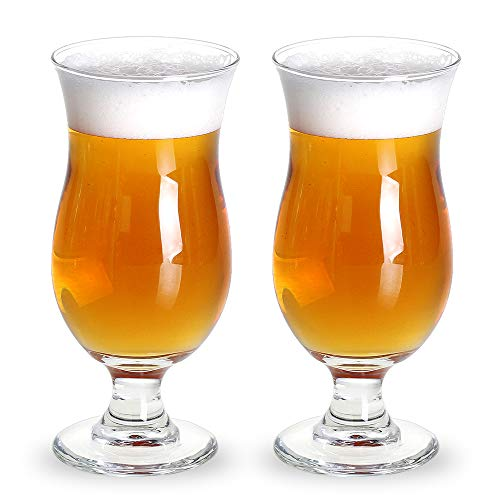Bavel Belgian Beer Glasses,Craft Stem Beer Glass,Tulips Style,Classics Beer Glass Stem,Ideal gift for the brewed beer lover,- 13 oz beer stemmed glasses,100% Lead-Free -Set of 2 (13 ()
