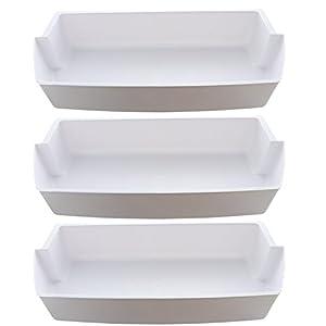 3-Pack Door Shelf Bins 2187172 Replacement for Frigidaire Whirlpool Kenmore Refrigerator PS328468