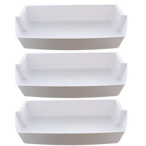Kitchen Basics 101: 3-Pack Door Shelf Bins 2187172 Replacement for Frigidaire Whirlpool Kenmore Refrigerator PS328468 (Best Side By Side Refrigerator Brand)