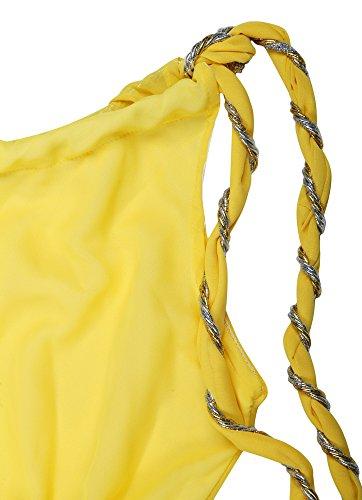 Damen Christian Cole Kleid CC101125 Gelb RnAHB