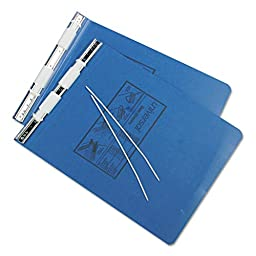 Universal Pressboard Hanging Data Binder, 9-1/2 x 11 Inches, Unburst Sheets, Blue (11723A)