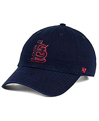 '47 Authentic St. Louis Cardinals Navy Tonal Red Pop Clean Up