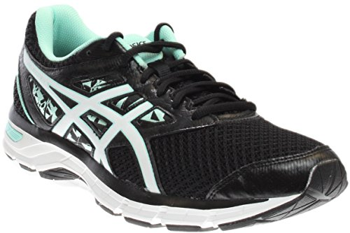 ASICS Women's Gel-Excite 4 Running Shoe Black/White/Mint 7.5 M US