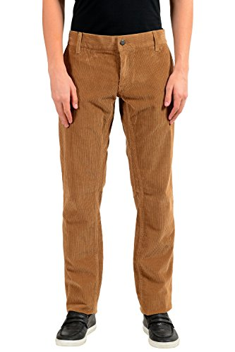 Dolce & Gabbana Men's Brown Corduroy Casual Pants US 36 IT 52 Dolce & Gabbana Mens Clothing