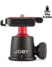 Joby Ballhead 3K Ball Head for Mirrorless and DSLR Cameras, Black, (JB01513-BWW)