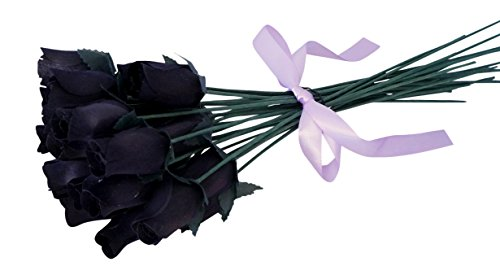 Out Of The Ordinary Halloween Costumes (Orchid & Ivy 24 Beautiful Realistic Wooden Roses - Artificial Flowers - Midnight Black - Gift Boxed)