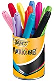 Bic - 896018 - Marqueurs Permanents Marking Color - Couleurs Assorties - 1,1 mm