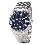 Torgoen T9 Blue GMT Pilot Watch | 42mm - Metal Strap