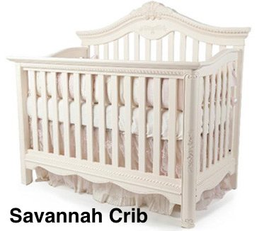 Full Size Conversion Kit Bed Rails for Munire Savannah Crib - Linen White