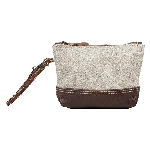 Myra Bag Chic Siera Cowhide Leather Pouch Wristlet Bag S1562