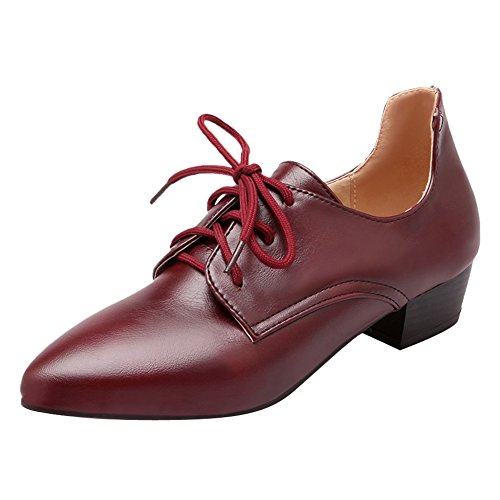 Lace Pointed Women's Latasa up Shoes Oxford Marron Toe Z6Tq5Hw