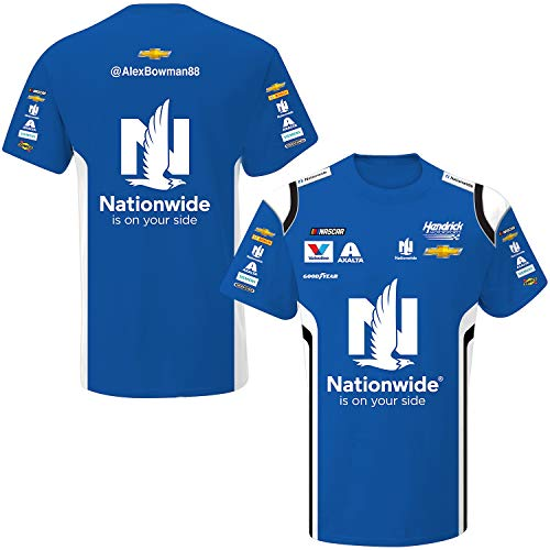 - SMI Properties Alex Bowman 2019 Nationwide Sublimated Pit Crew T-Shirt (Large) Blue