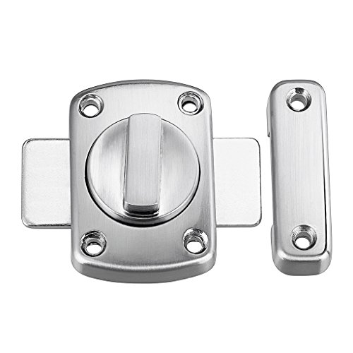 - Sumnacon Safety Door Latches, Solid Rotate Bolt Latch Gate Latches/Lock for Pet Gate,Cabinet Furniture, Window, Bathroom, Brushed Finish