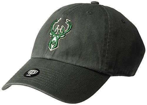 NBA Milwaukee Bucks OTS Challenger Adjustable Hat, One Size, Charcoal]()
