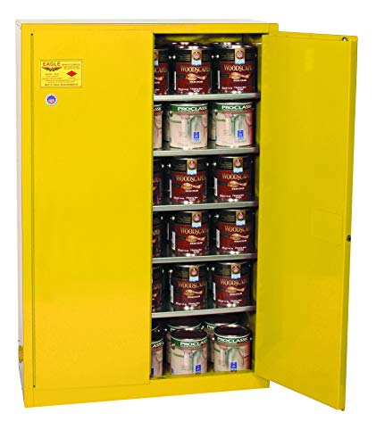 Eagle Safety Storage Cabinets - Eagle YPI-47 Safety Cabinet for Paint & Ink, 2 Door Manual Close, 60 gallon, 65
