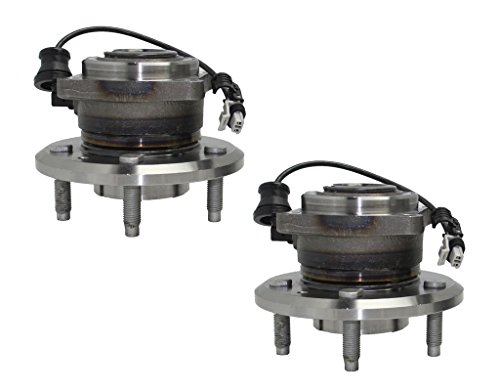 (Detroit Axle Both (2) New Rear Complete Wheel Hub & Bearing Assembly - 4-Bolt Rectangular Flange w/ABS for 12-15 Chevy Captiva Sport - [07-09 Equinox] - 07-09 Torrent - [08-10 Vue] - 07-09 XL-7)