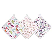 Aden by Aden + Anais Washcloth Set, Wise Owl, 3 - Pack