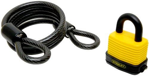 Stanley Hardware V8810–Candado de combinación con cable de seguridad, 10,2cm