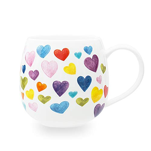 Colorful Cute Heart Shaped Ceramic Coffee Mugs ...