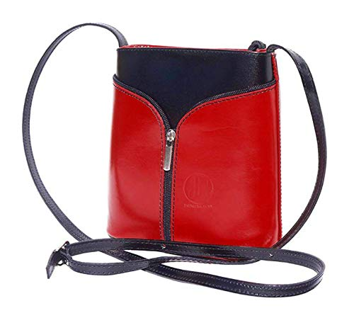 JAENIS NICHOLE- Patent Crossbody bags for women Genuine Leather Purses and Handbags Crossbody Bags Over the Shoulder Small - Patent Mini Leather Tote