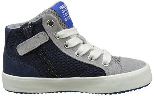Geox J Alonisso B, Zapatillas Altas Para Niños Azul (Navy/greyc0661)
