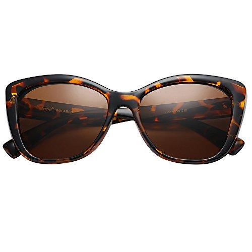 7572e8b92 Polarspex Polarized Women's Vintage Square Jackie O Cat Eye Fashion  Sunglasses