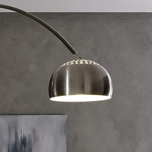 Lampada ad arcata da terra con base in marmo
