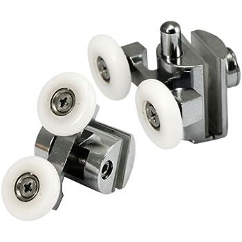 Micro Traders 4x Zinc Alloy Top Amp Bottom Shower Door Twin