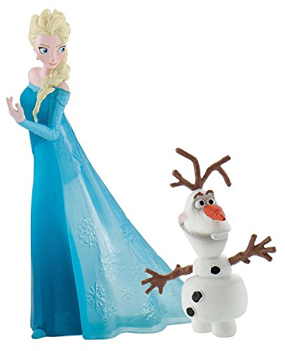 Disney Pair Packed Frozen Elsa and Olaf Birthday Party Cake Toppers ()