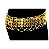 Aptafêtes - AC0183 - Lot de 6 bracelets  - métal  - orientaux avec pièces