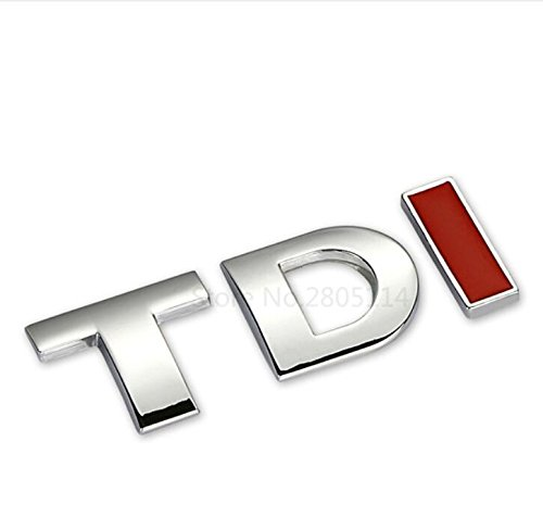 TDI Badge Emblem Decal Stickers Logo for Volkswagen VW Polo Golf Jetta Passat b5 b6 GTI Touran Bora Car styling car accessories (TD silver I red)