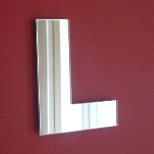Upper Case Letter L Mirrors - 10cm (Mirrored Letters Wall)