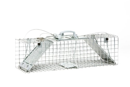 - Havahart 1062 Easy Set Two Door Cage Trap for Rabbits, Skunks and Squirrels