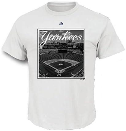 New York Yankees MLB hombres del nombre de la ciudad estadio foto camiseta (pequeño): Amazon.es: Deportes y aire libre