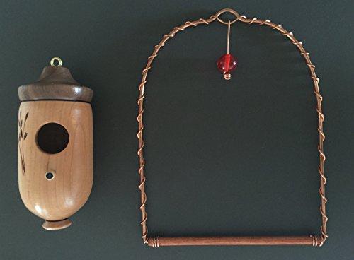 Kentucky Made & More Hummingbird House (Cherry) & Hummingbird Swing