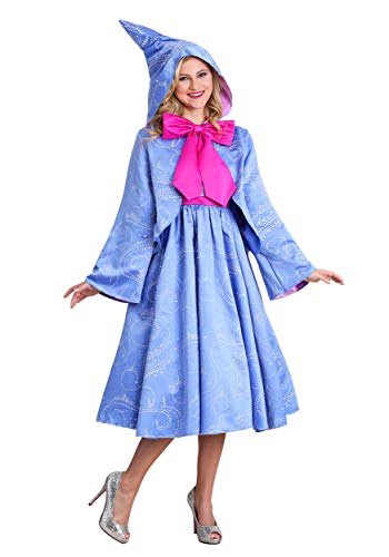 Disney Cinderella Fairy Godmother Women's Costume Medium Blue]()