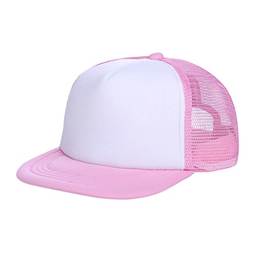 UCQueen Baby Girls Boys Toddler Cap Trucker Hat Caps Childrens Infant Kids Hats Summer Breathable Hat Show Kids Hat Pink