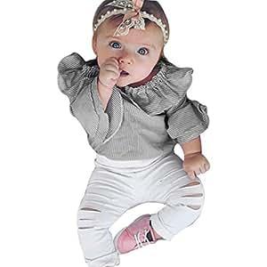 Amazon.com: NUWFOR - Conjunto de ropa para bebés y niñas a ...
